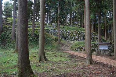 桜馬場跡北面石垣1