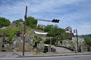 西から見た臼杵城
