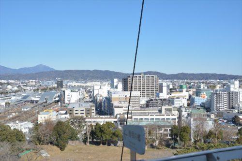 天守最上階から見た小田原駅周辺(2019年1月27日)