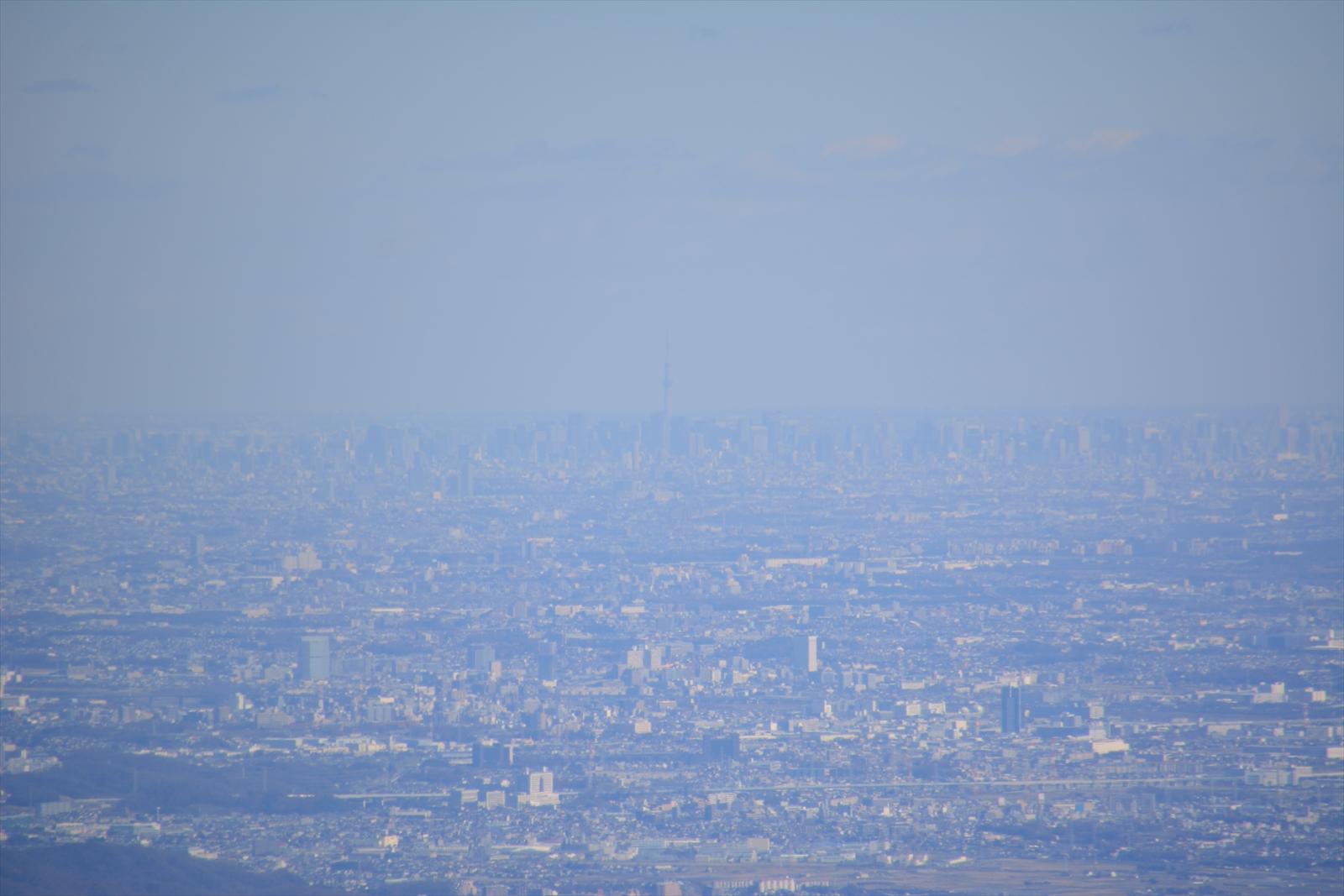 箱根駒ヶ岳山頂から見たスカイツリー