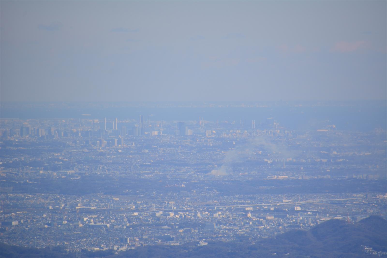 箱根駒ヶ岳山頂から見た横浜市