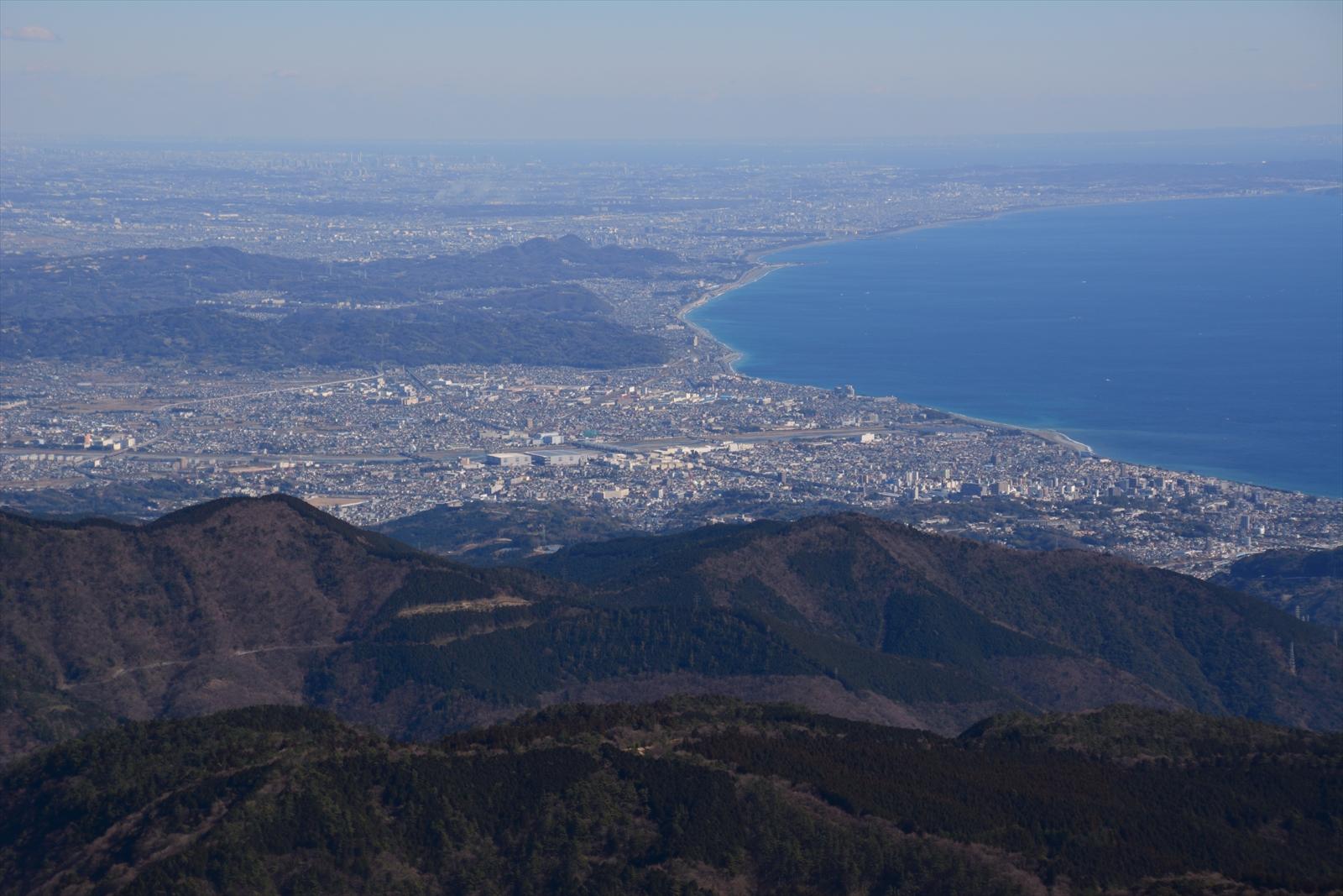 箱根駒ヶ岳山頂から見た小田原市