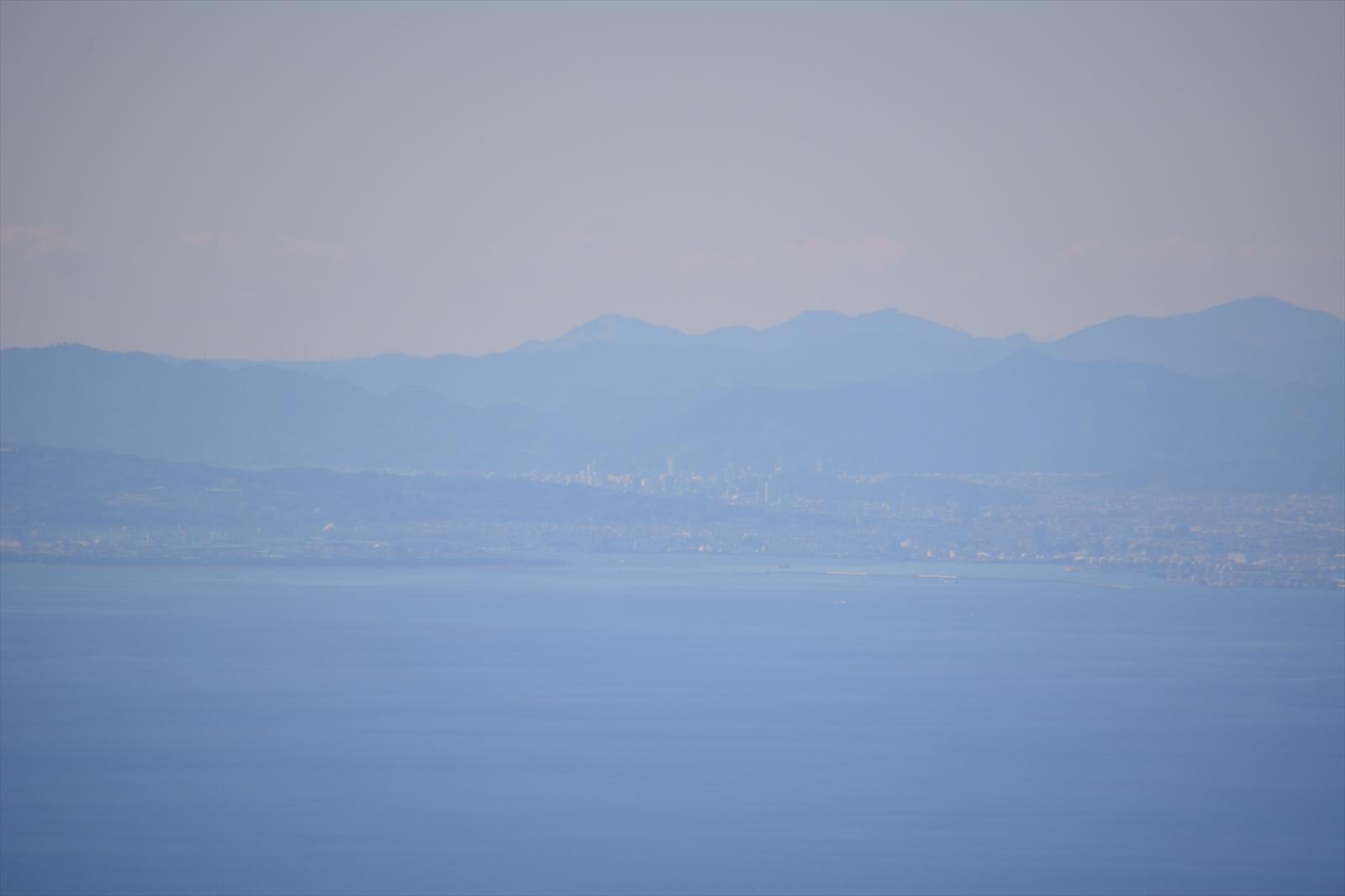 箱根駒ヶ岳山頂から見た静岡市