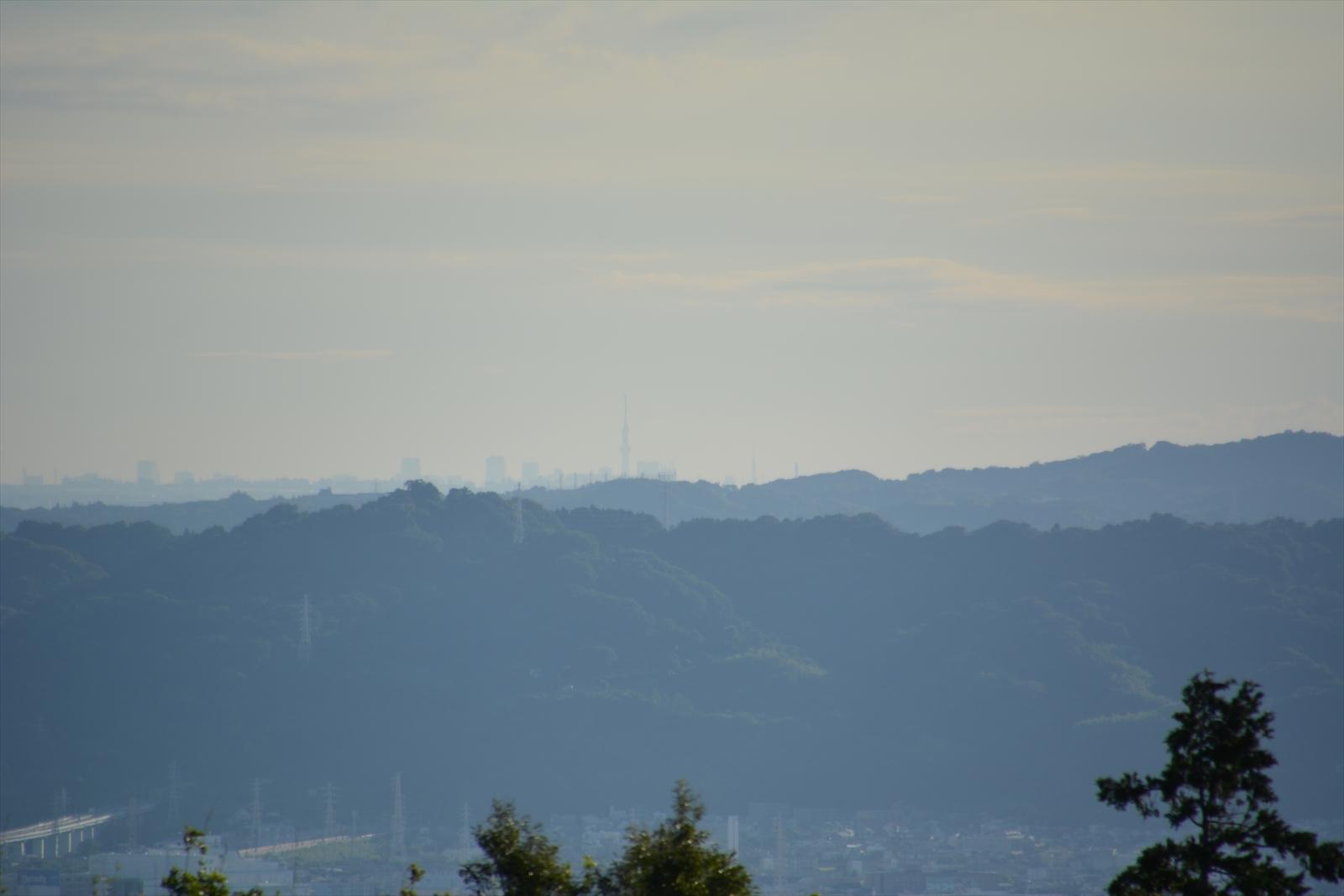石垣山一夜城から見たスカイツリー6(かなりくっきり)